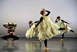 """The Merce Cunningham Dance Company performing """"Antic Meet"""" at the Joyce Theater, March  2011. The company will perform at Bard's Fisher Center September 9-11. Photo by Stephanie Berger."""