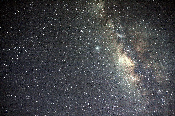 The Milky Way appears as a streak across the summer sky. - MILA ZINKOVA, WIKIMEDIA COMMONS