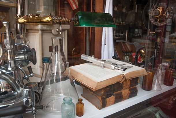 The past is preserved at Dickinson's Antiques in Beacon.
