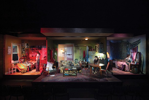 "The set of the 2013 production of ""Downtown Race Riot."" - © VASSAR & NEW YORK STAGE AND FILM / BUCK LEWIS"