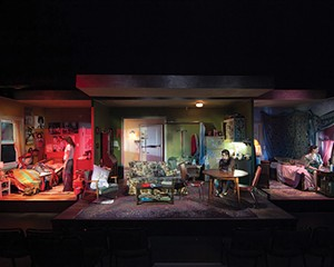 """The set of the 2013 production of """"Downtown Race Riot."""""""