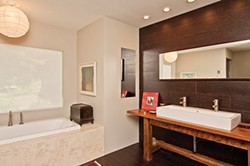 The stylish master bathroom - DEBORAH DEGRAFFENREID