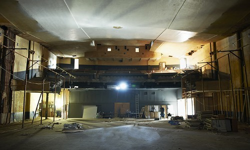 The unfinished interior of the Marina Ambromovic Institute in Hudson