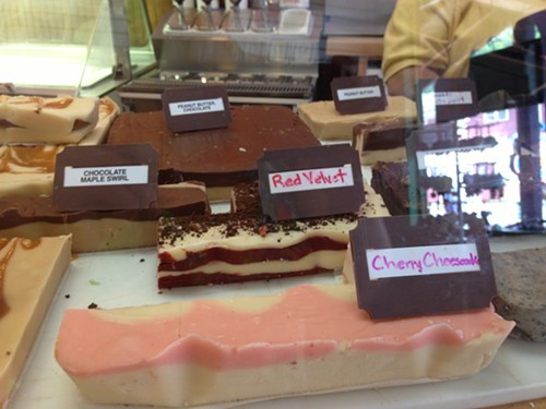 There is a fudge for everyone one at the Ice Cream Station