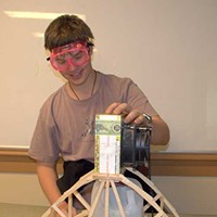 Technology In the Classroom This Poughkeepsie Day School senior used technology and engineering principles to build a calorimeter, which uses dual motors, a fan and water chamber to measure calories in foods. Courtesy of the Great Barrington Rudolf Steiner School