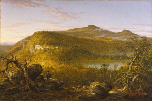 Thomas Cole, 1844 A View of the Two Lakes and Mountain House, Catskill Mountains, Morning