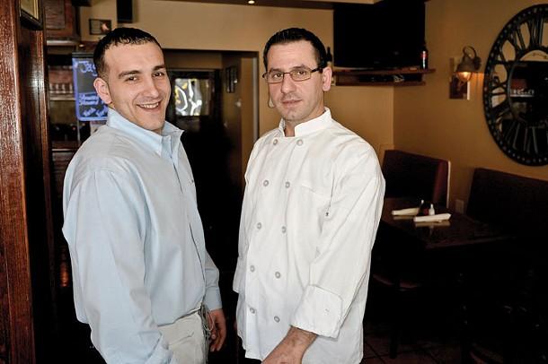 Tim and Nderim Gjokaj at Vigneto Cafe in Highland. - DAVID MORRIS CUNNINGHAM