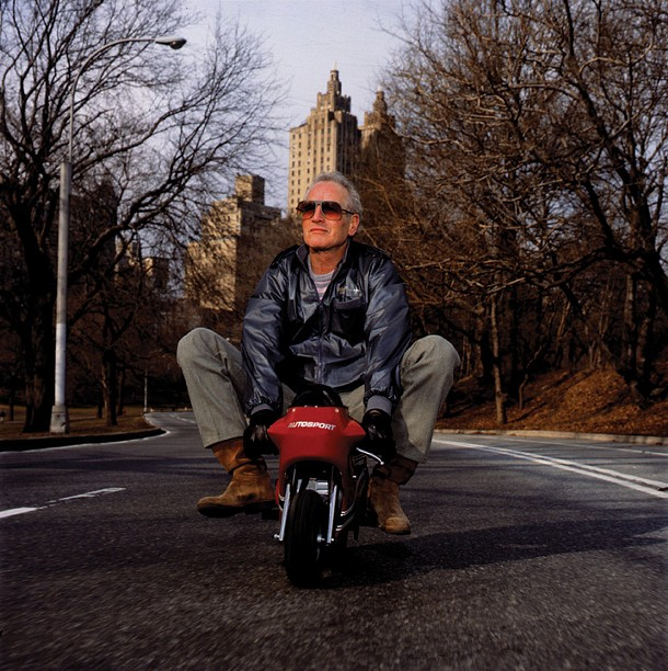 """Timothy White, """"Paul Newman, New York City"""", color photograph, 1998"""