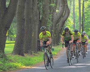 Bikers in the Ride the Ridge Bike Challenge in June at the High Meadow School in Stone Ridge.