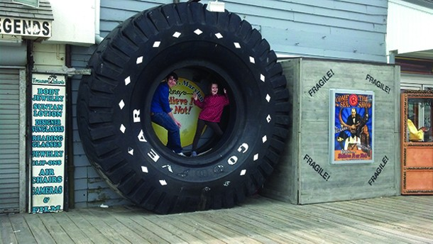 """Traci Suppa of the blog, Go Big or Go Home, travels with her two children to the World's Largest """"whatever""""—this time, a Goodyear tire in Maryland. - TRACI SUPPA"""