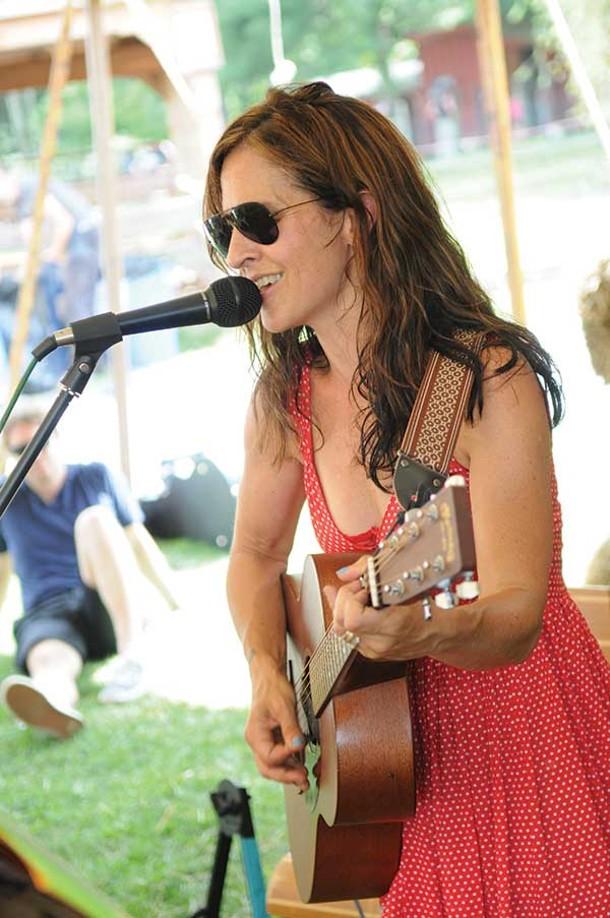 Tracy Bonham at the Woodstock Farm Animal Sanctuary's July Jamboree on July 6.