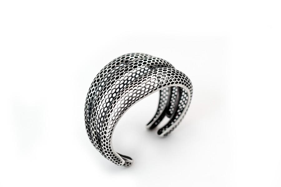 """Triple Snakeskin Bracelet"" by Rachel Atherley - RACHELATHERLEY.COM"