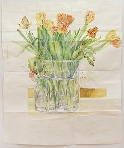 "JOE AMRHEIN, 2014. - ""Tulips,""2014, watercolor/paper, 65 x 53 inches"