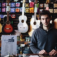 New Paltz Community Tyler Beatrice, owner of Root Note Music Shop. Thomas Smith