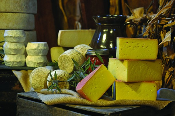 A selection of cheeses from Sprout Creek Farm in Poughkeepsie.