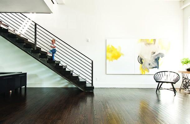 Front entry of Liz Birch's loft. Painting by Stephen Spaccarelli. - DEBORAH DEGRAFFENREID