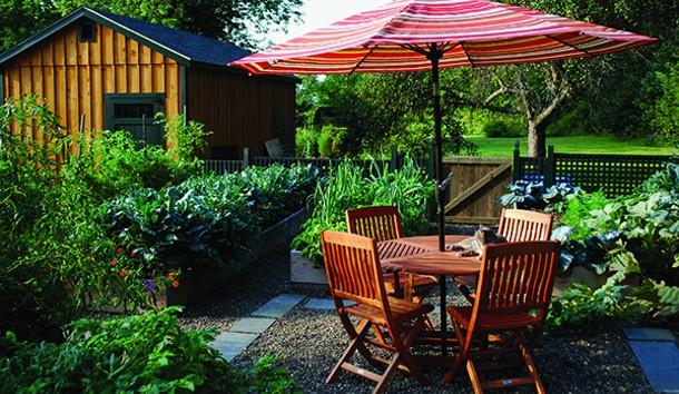 Organic vegetable garden and gardening shed - LARRY DECKER