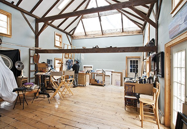 Garin Baker in his studio - DEBORAH DEGRAFFENREID