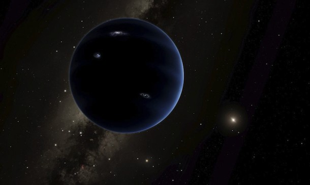 Artist's rendering showing the distant view from postulated Planet 9 back towards the Sun. - CALTECH