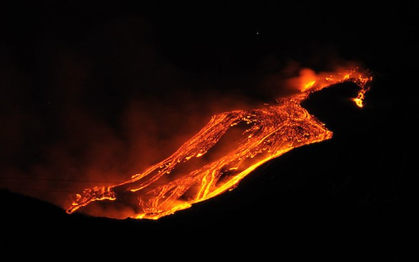 Mt. Etna in Sicily, erupting on Jan. 12, 2011. - GNUCKX/CREATIVE COMMONS/WIKIMEDIA