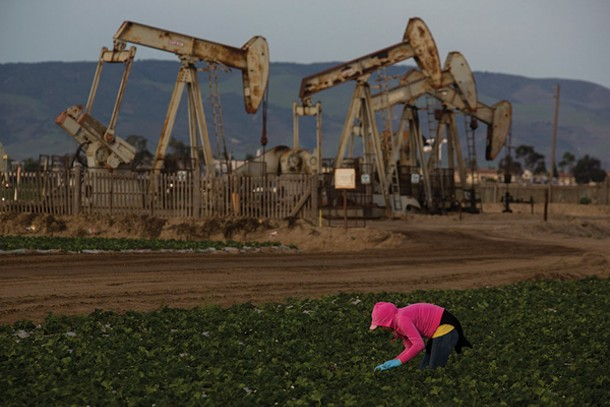 Big Big Oil and big agriculture exist side-by-side in California.