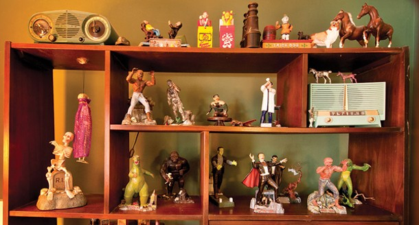 Aurora's model monsters from the 1960s on display in the bedroom. - DEBORAH DEGRAFFENREID