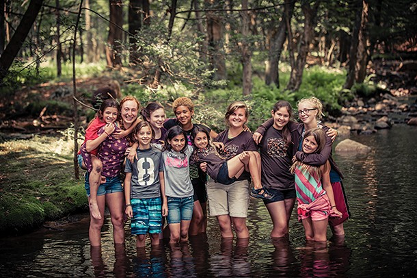 Campers at a Wild Earth program at Omega Institute. - MAGGIE HEINZEL-NEEL