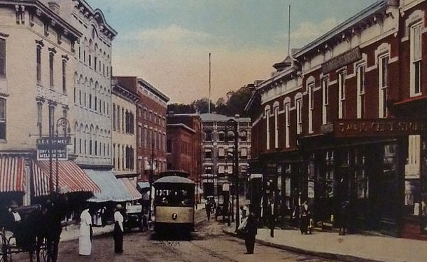 Rondout, 1914. - COURTESTY OF THE KINGSTON WATERFRONT BUSINESS ASSOCIATION