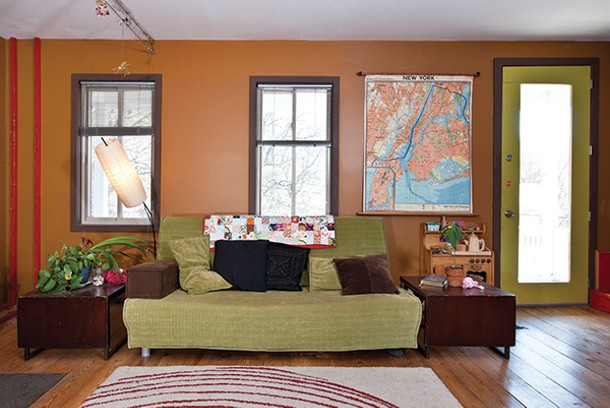 The interior walls are painted in complementing hues. - DEBORAH DEGRAFFENREID