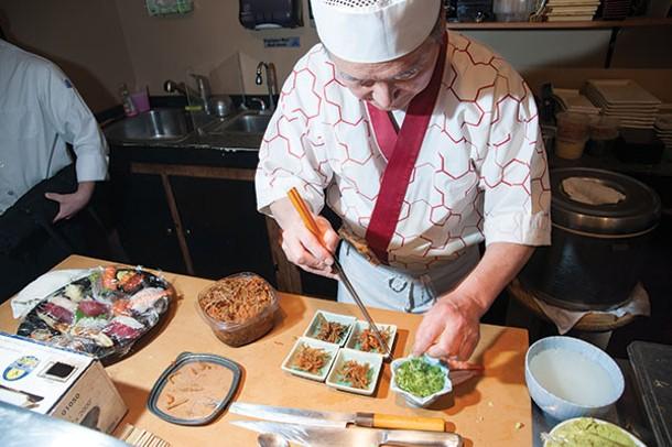 Preparation at SushiMakio - ROY GUMPEL
