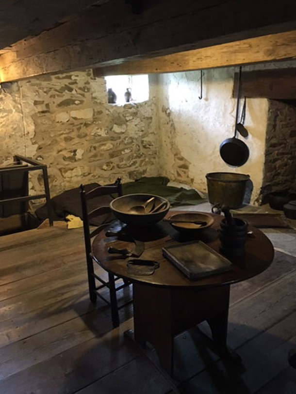 The recreated slaves' quarters - DIANA WALDRON