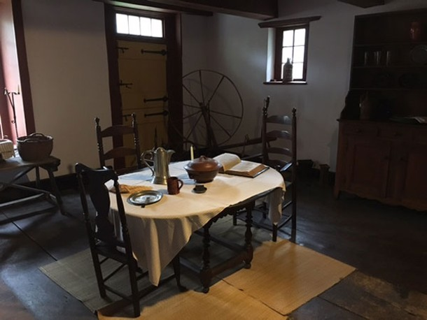 Kitchen table in the Jean Hasbrouck house - DIANA WALDRON