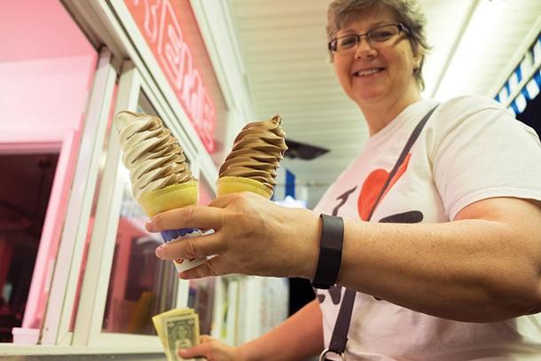 Dorine Merrill at Del's Dairy Creme in Rhinebeck. - ROY GUMPEL