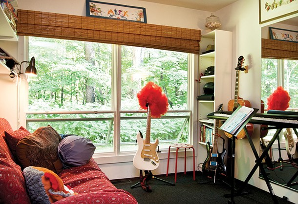 """Wacksman's room has evolved from toy trains and Lego's into a music studio. """"I'm sure the guitar will figure into his life's work or life's play  in some capacity - DEBORAH DEGRAFFENRIED"""