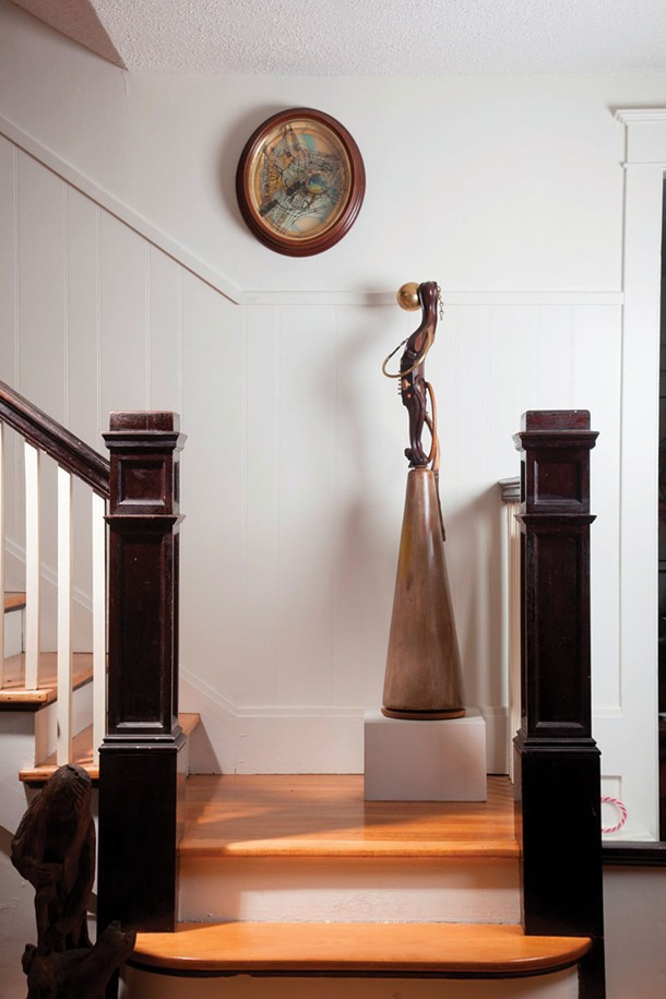 "Fay Wood's studio, ""Muse on Stairs"""