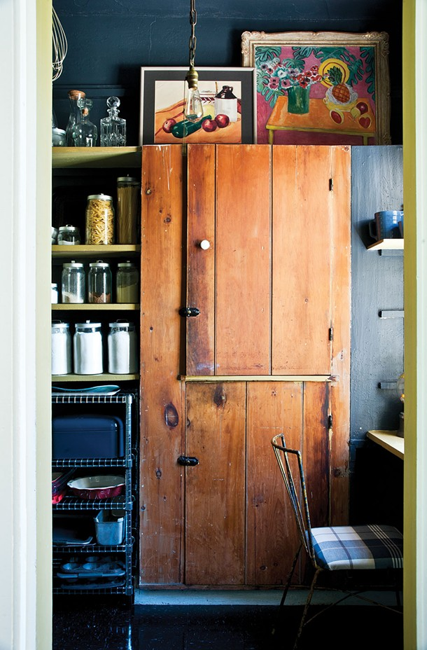 The brown wood cabinet in the pantry is original to this house. - DEBORAH DEGRAFFENREID