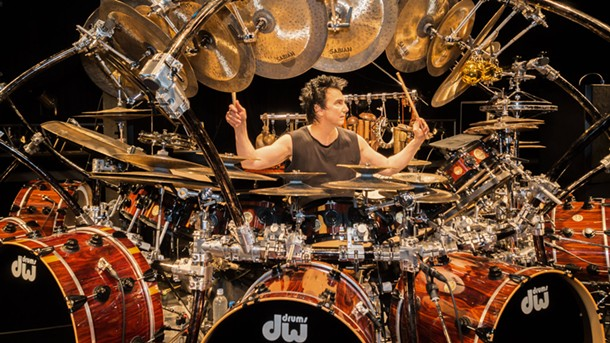 Terry Bozzio drums at Woodstock Music Lab on September 28.