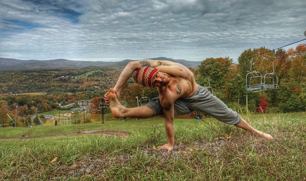 Justin Wolfer, one of the teachers at Ahimsa Yoga & Music Festival
