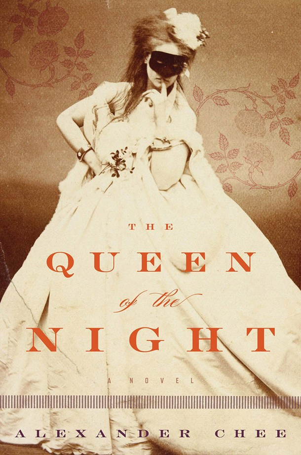"""- An excerpt from Alexander Chee's Queen of the Night: -  -  - """"The bal, for size and splendor, had surpassed my expectations, as had my costume. True to his word, Worth had driven his seamstresses hard. In his vision for the """"Queen of the Night,"""" Worth had created a costume for me that made me look to be covered in a shower of stars and comets. The embroidery was hand-stitched in a technique original to him that shaped the fabric as it was sewn, and the silhouette of the bodice was sculpted as a result. One comet outlined my left breast and wound down to circle my waist, meeting others, all beaded in crystal and leaving long white silk satin crystal-beaded trails that ran across an indigo velvet train.  More comets created a gorgeous bustle and the edges of their trails scalloped the skirt down to the floor—the comets looked like wings. On the front panel of the gown's skirt, more comets streaked across a night sky of indigo silk satin, and clouds hid a crescent moon as rays of white and gold light spread from it, embroidered in silver thread. The moon was beaded in pearls."""" -"""