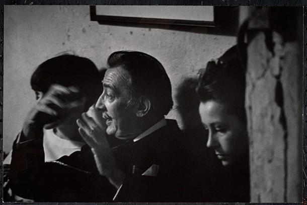 Salvador Dali and Ultra Violet at a loft party, 1960s.