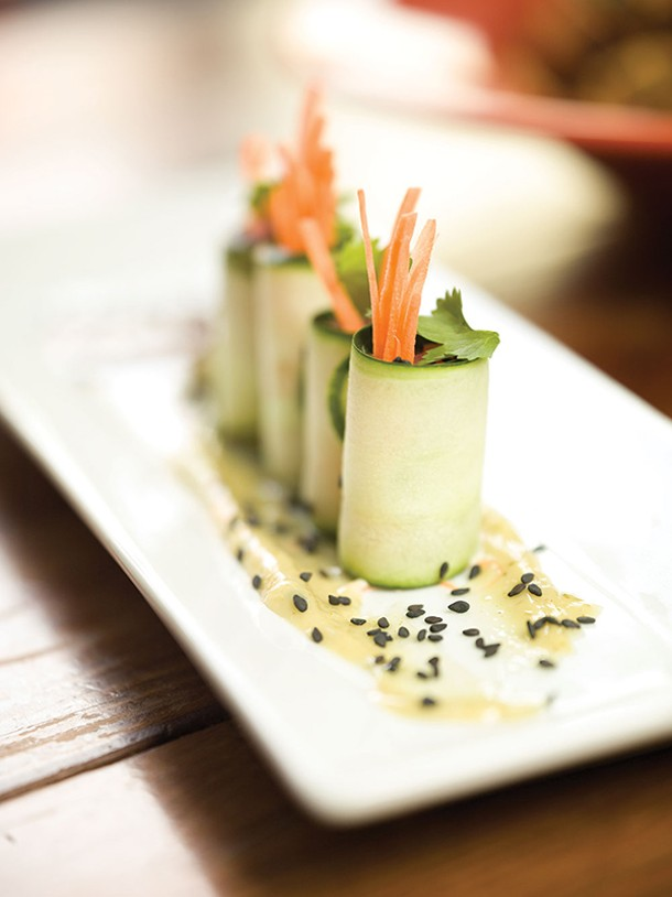 Ahi tuna cucumber rolls - MATT LONG