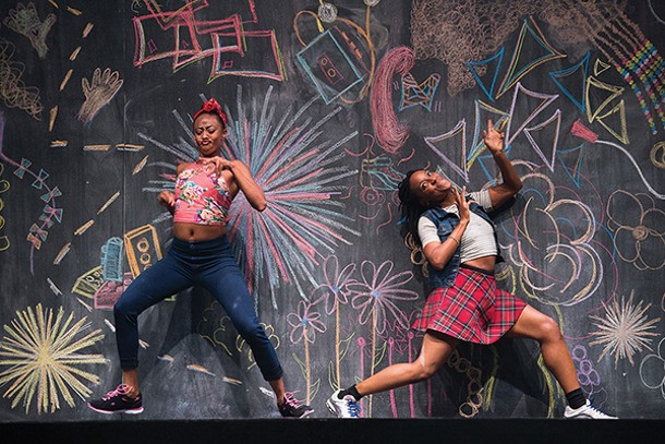 "Camille A. Brown & dancers Fana Fraser at Beatrice Capote perform ""Black Girl: A Linguistic Play"" August 9-13 at Jacob's Pillow. - CHRISTOPHER DUGGAN"