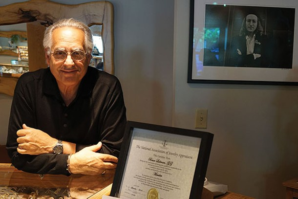 Bruce Lubman at Hummingbird Jewelers in Rhinebeck - JOHN GARAY