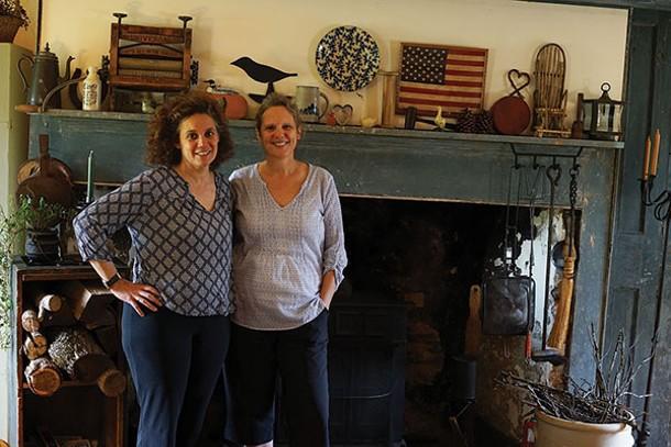 Jonna Paolella and Cynthia Curnan at Olde Rhinebeck Inn - JOHN GARAY