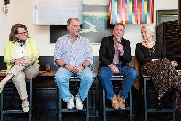 Our panel: Rhinebeck Area Chamber of Commerce Executive Director Claudia Cooley, Paul D'Antonio of Gallery@Rhinebeck,  Mayor Gary Bassett, and Barbara Schreiber of Rhinebeck Department Store - RICHARD A. SMITH