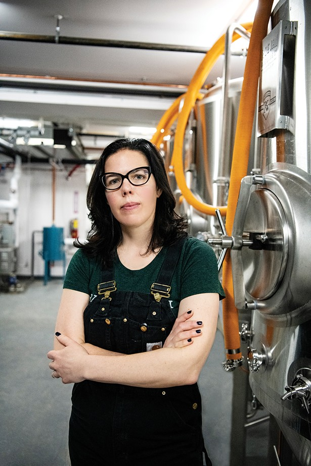 Hayley Shine, a veteran of Rogue Ales in Oregon, is the brewmaster.