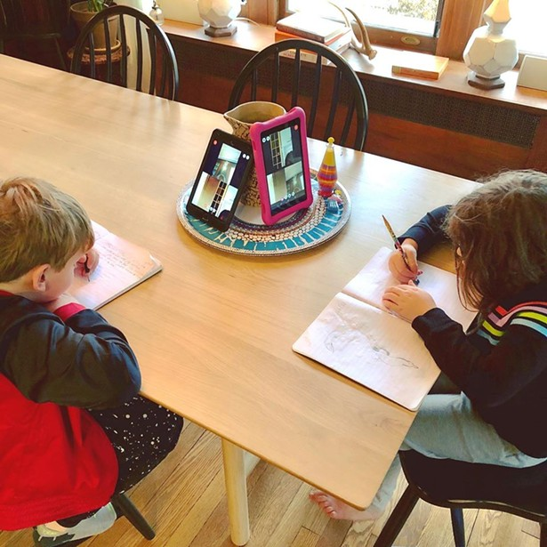 Lower elementary morning journal for students from Hawk Meadow Montessori School