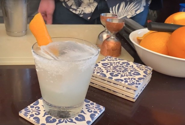A margarita from the home mixology lab of Gibbons-Brown.