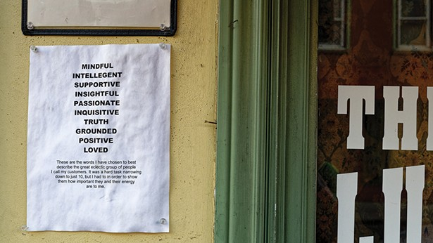 A photo from Michael Frank's series of business signs in Kingston and New Paltz. - MICHAEL FRANK