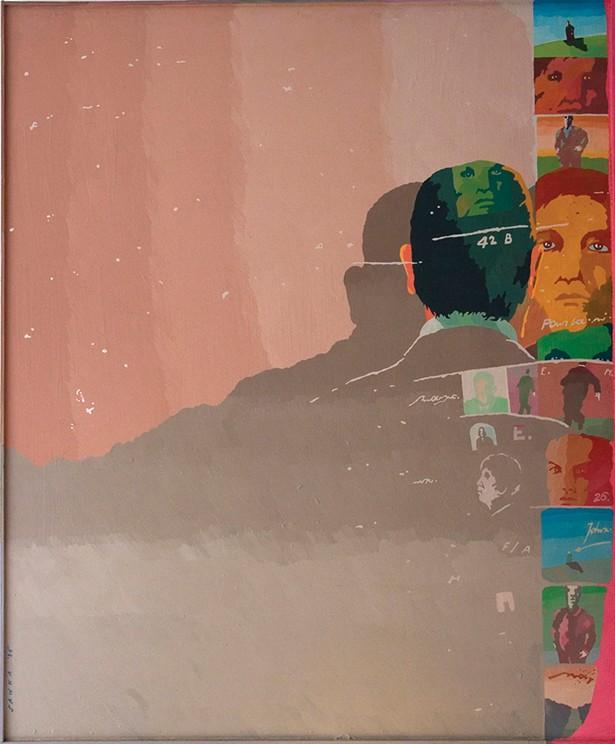 "The Memory, acrylic on Masonite, 48"" x 40"",1986. - PHOTO: AMANDA SCHWEITZER"